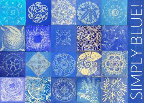 Postkarte Ausstellung SIMPLY BLUE!